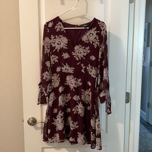 Lulus maroon summer dress